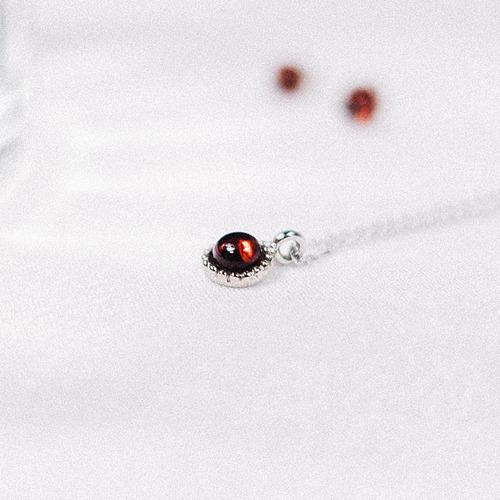 [Silver 925] Garnet Vintage Necklace