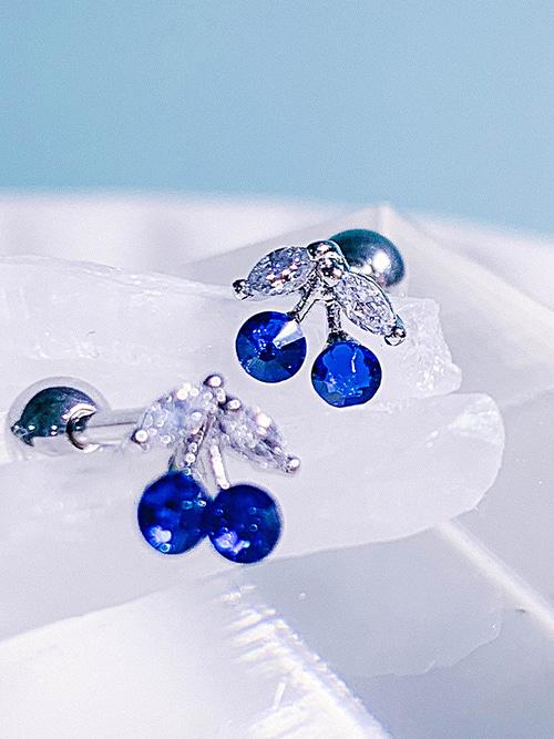 [BLUE] 체리 칵테일 Piercing/Earring