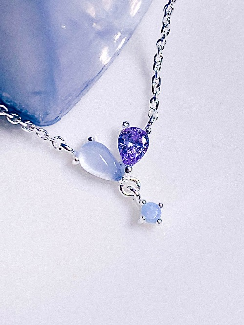 [Silver 925/BLUE] Focus on you Necklace