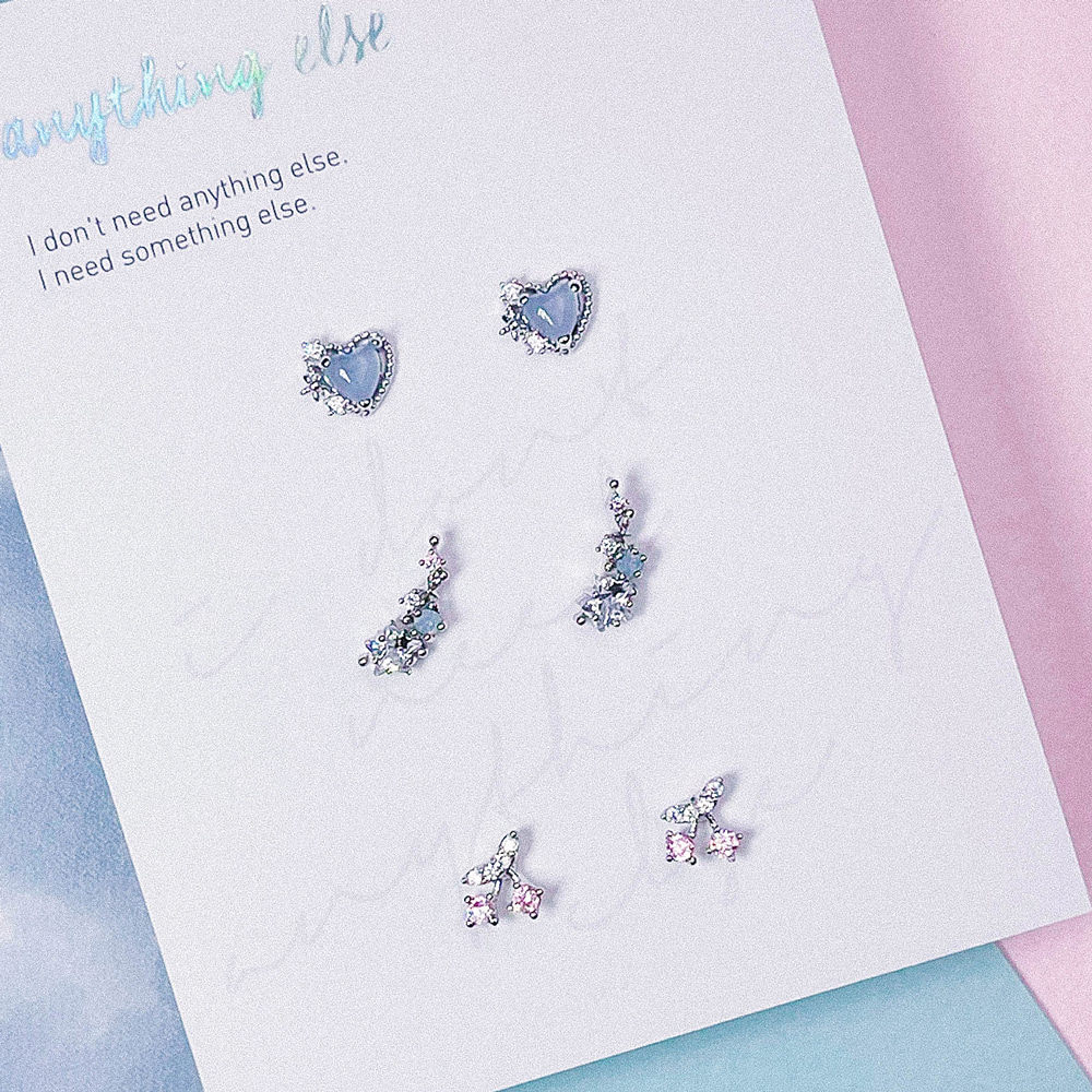 Cloud Cotton Candy Earring SET