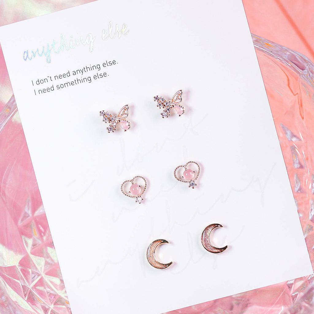 Scent of the Pink Fairy Earring SET