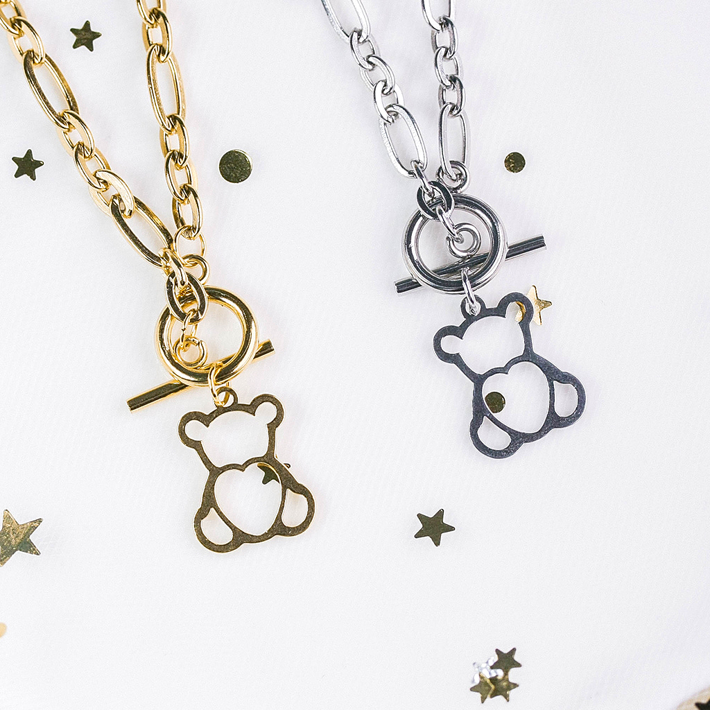 [Surgical] Soft Bear Necklace
