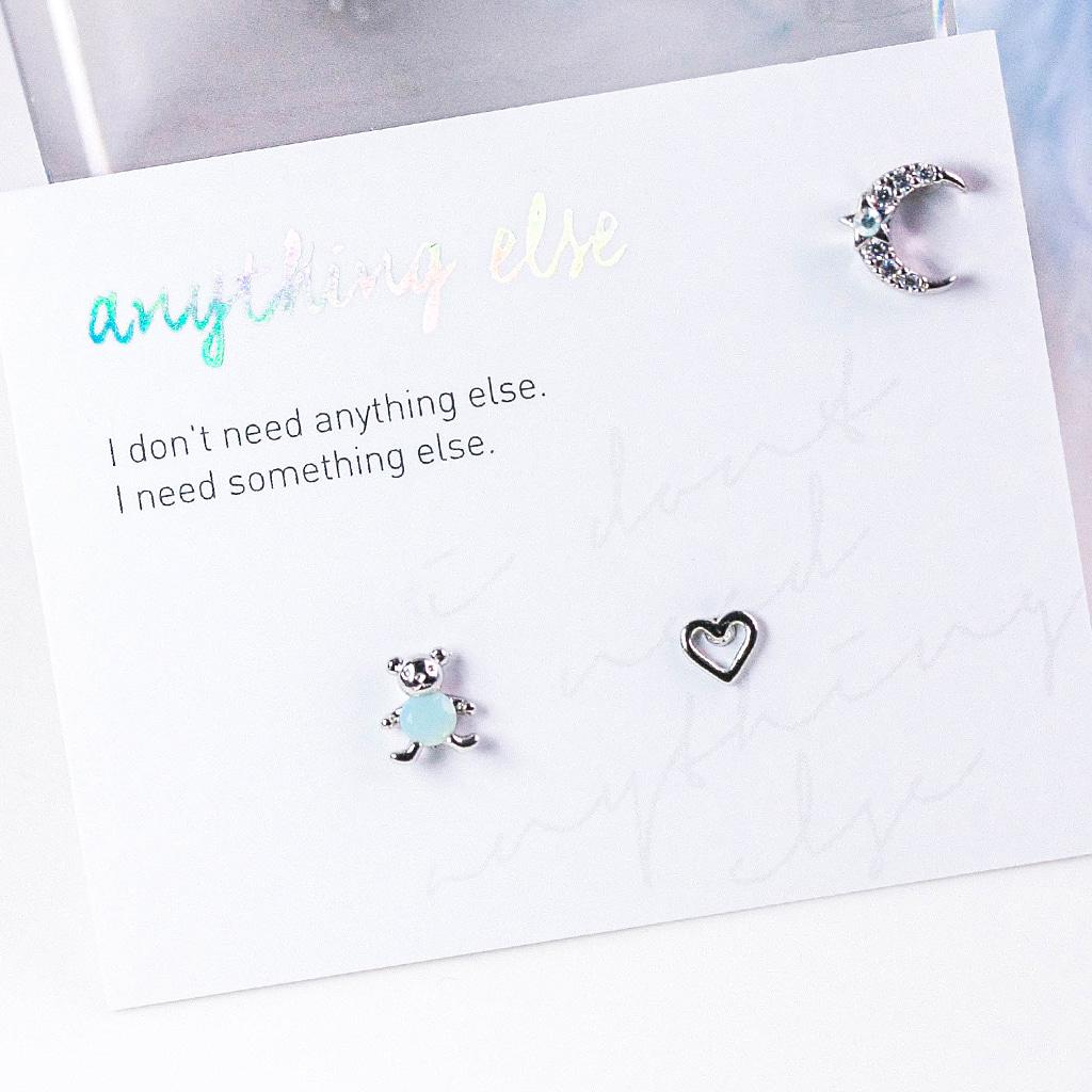 Bear in Love Piercing/Earring SET