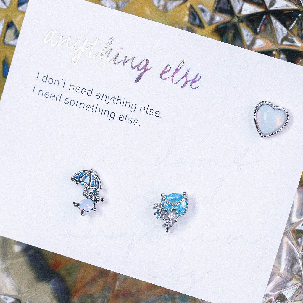 Memories of a Rainy day Piercing/Earring SET