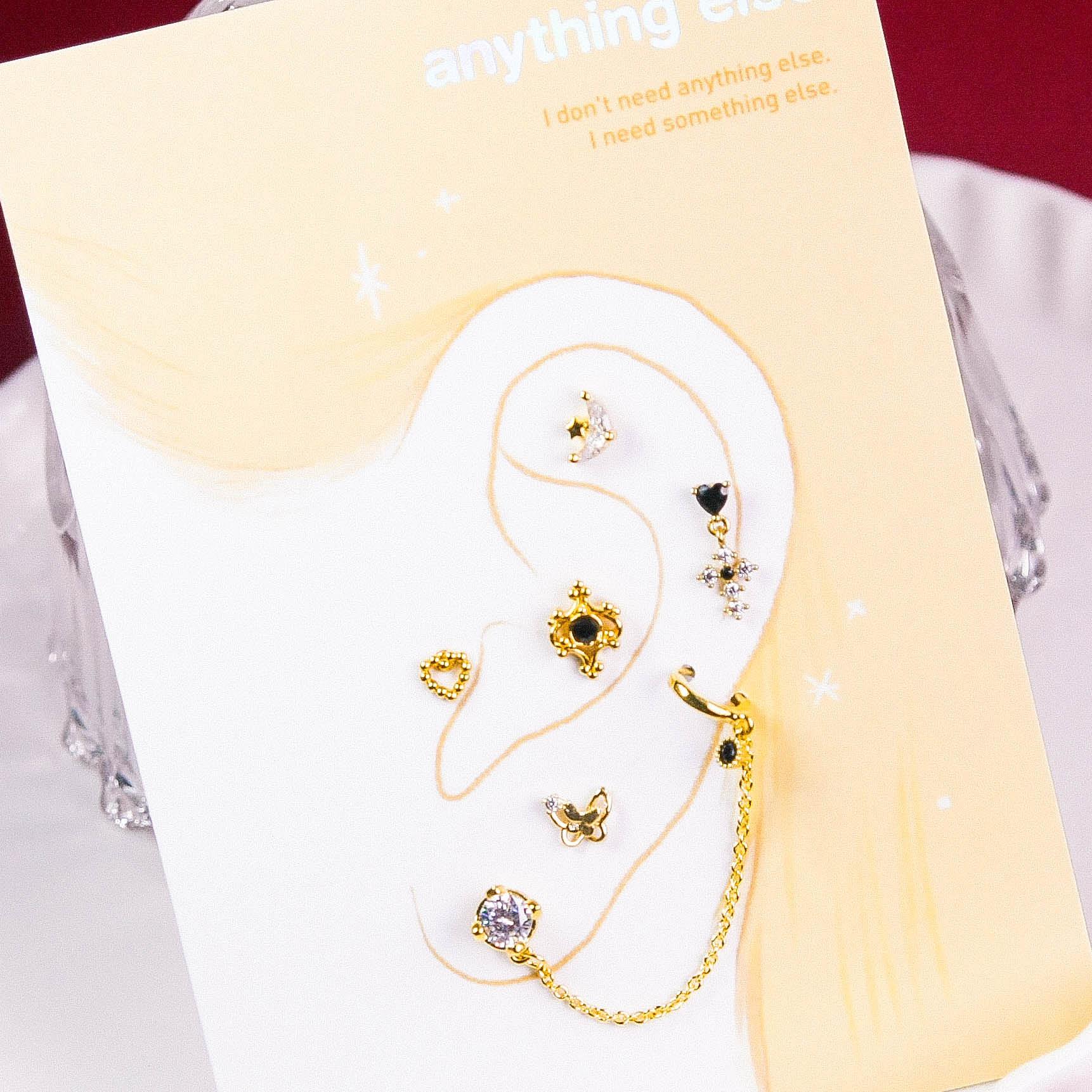 Princess Bell Piercing/Earring SET