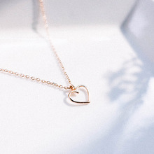 [Silver 925] Line Heart Necklace