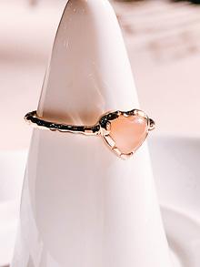 [Silver 925/CORAL] Love Adagio Ring