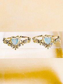 Chloe Heart Ring [GREEN]