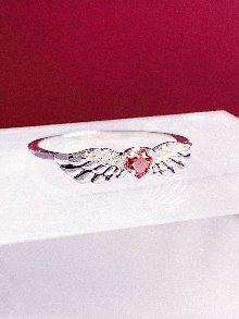 [Silver 925] 날개 잃은 천사 Garnet Ring
