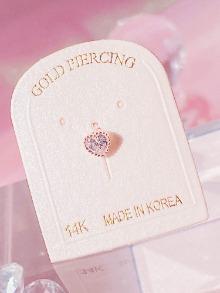 [14K GOLD] Crystal Angel Piercing