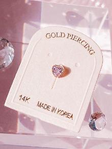 [14K GOLD] Pink Angel Piercing