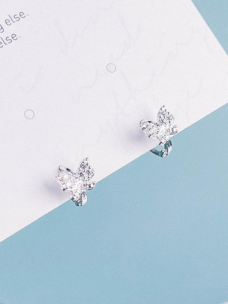 [Silver 925/One touch] Na-bi Earring
