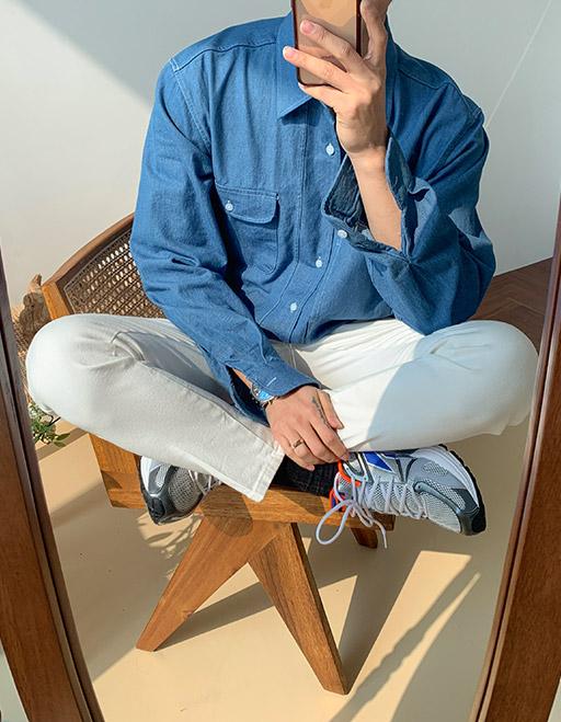 멘티 스테블 포켓셔츠 (3color)