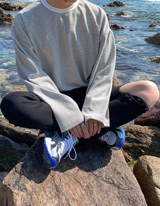 헤비 오버핏 잔단가라티셔츠 (3color)