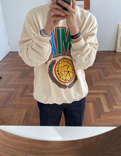 미아오 맨투맨 (3color)
