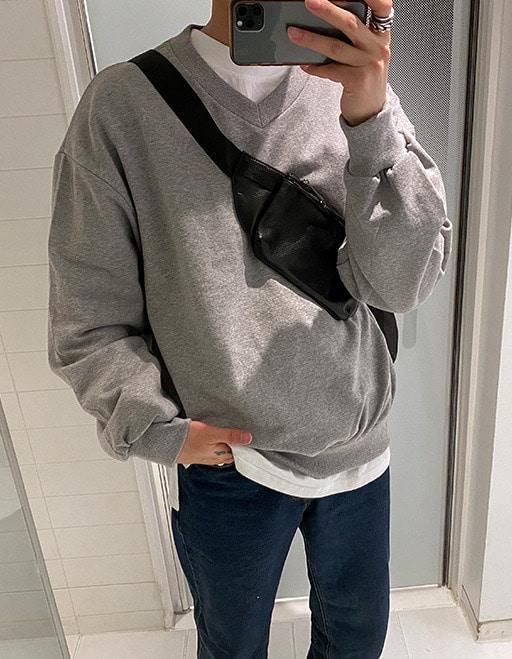애즈클로핏 V넥 퍼펙트맨투맨 (4color)