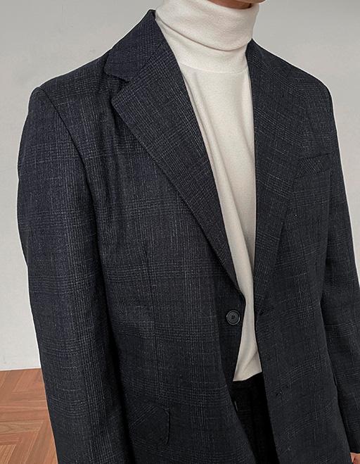 칸토 스테이체크 싱글 자켓 (2color)