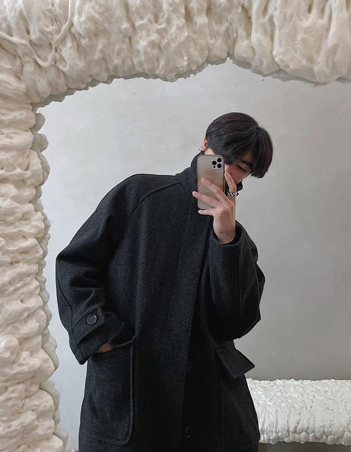 앤드 울 메르 발마칸 코트 (2color)