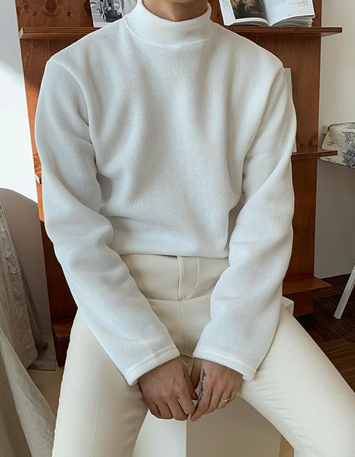 1+1 니트지 왕기모 반폴라니트 (7color)