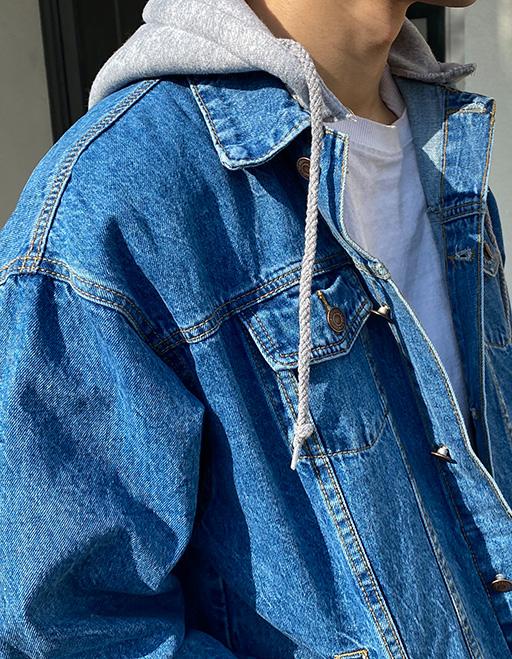퍼펙트 후드 데님자켓 (3color)