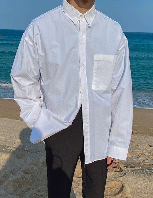 식 벌룬주름셔츠 (3color)
