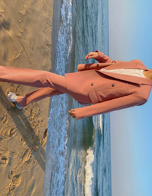 모네 리우더블 와이드수트 (Pink)
