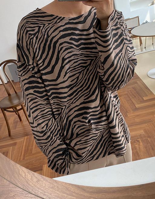 모네 하바나지브라 긴팔티셔츠 (2color)