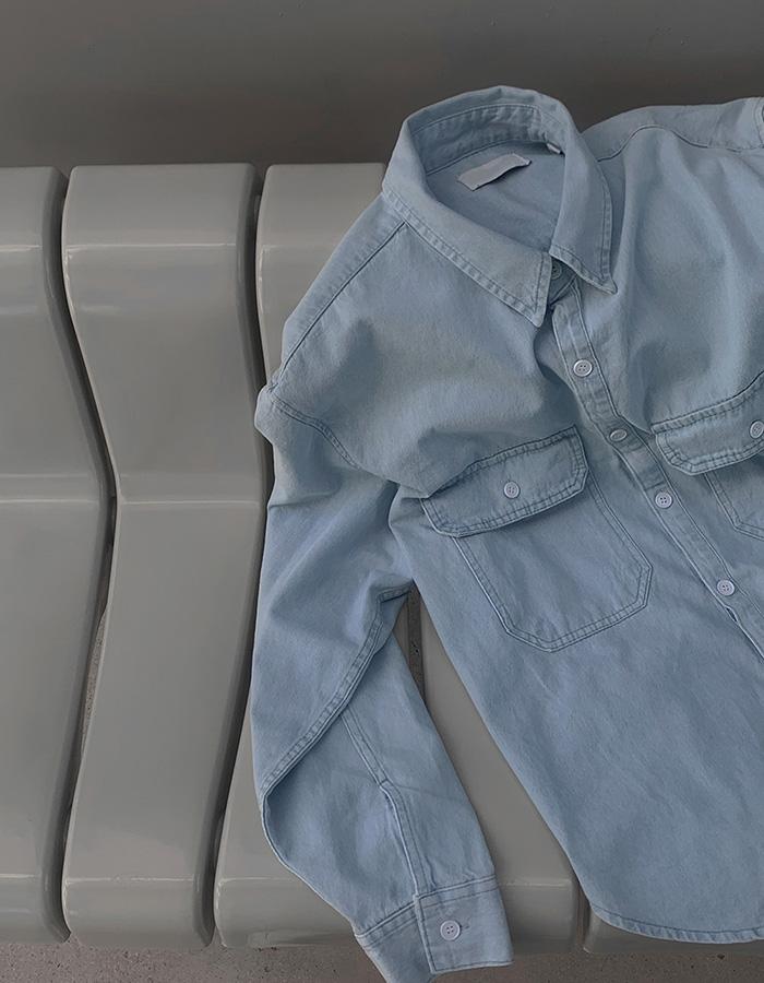 애즈클로 먼트 데님셔츠자켓 (2color)