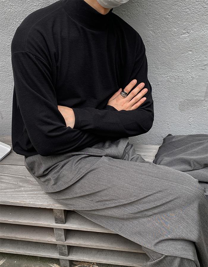 네버 소프트 사카리바 하프넥 긴팔티셔츠 (4color)