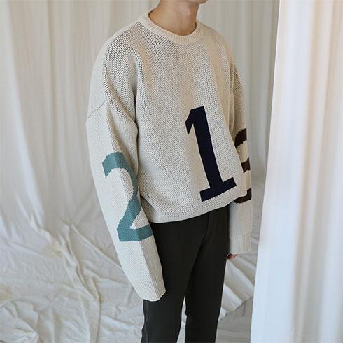 123 라운드니트 (2color)