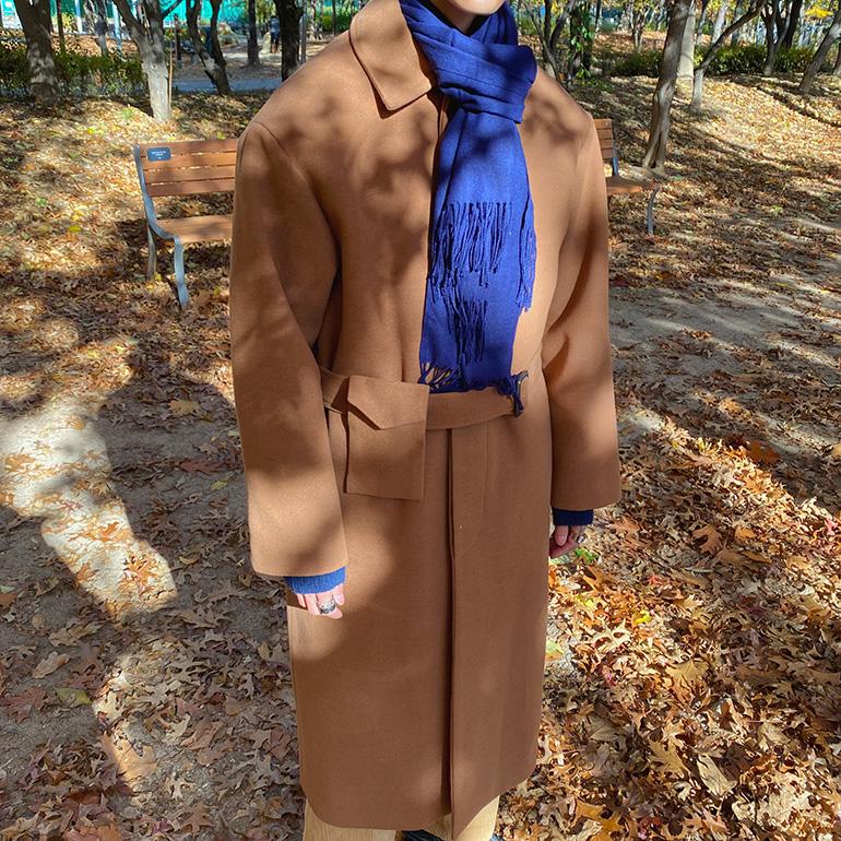 애즈클로 제르시 포켓벨트 코트 (4color)