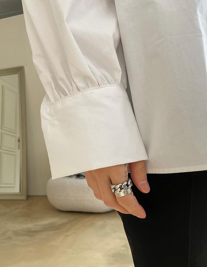 모네 린 벌룬핏 셔링 셔츠 (5color)