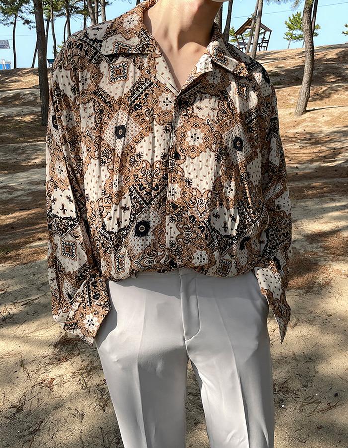 애즈클로 샤크 페이즐리셔츠 (2color)