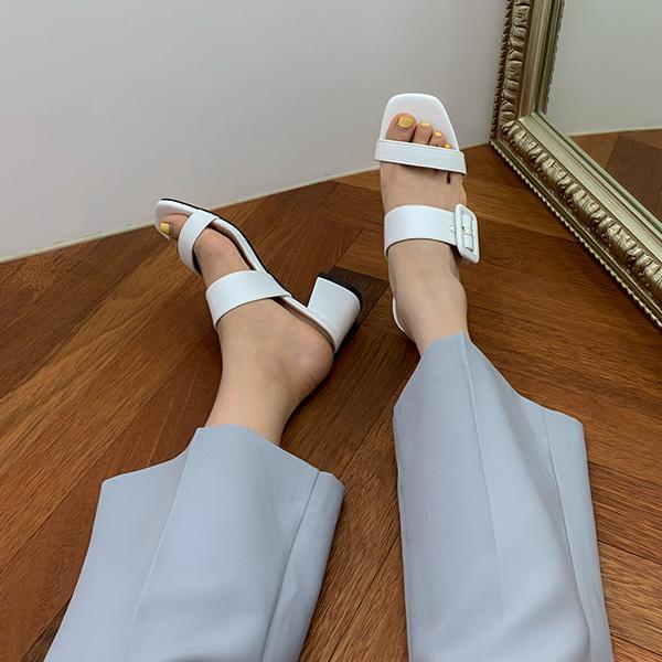 로엘라 버클 뮬슬리퍼 (5.5cm)