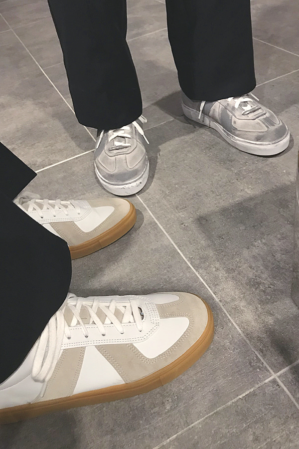 No.5218 normal & printing BW sneakers