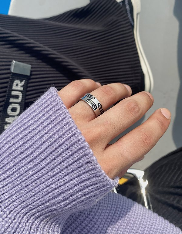 No.8237 knot silver RING