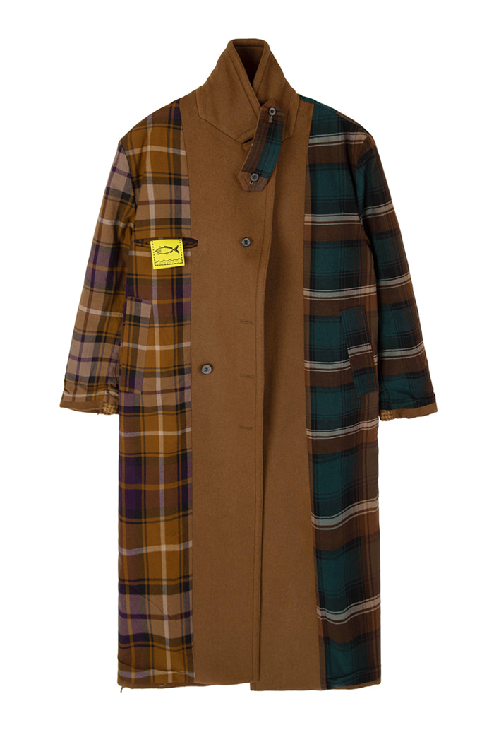 [Upcycling Project]REVERSIBLE OVER-FIT DOUBLE WOOL COAT_CAMEL리버시블 오버핏 더블 울 코트_카멜
