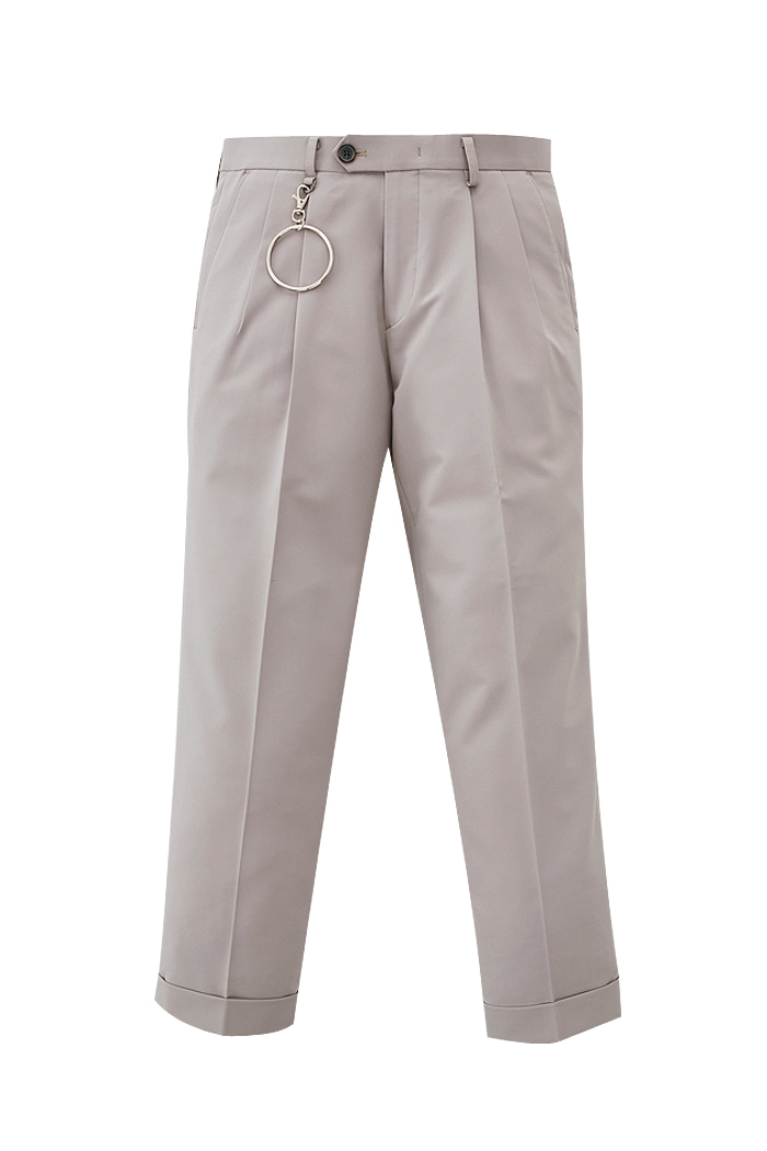 pink beige Holy one tuck pants[위너, 박해진 착용]