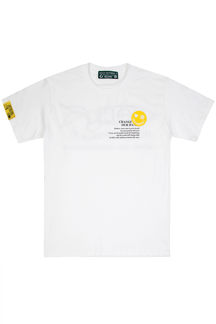 CHANGE IS IN OUR HANDS CAMPAIGN 1/2 T-SHIRT_WHITE변화는 우리 손에 있다 캠페인 반팔 티셔츠_화이트