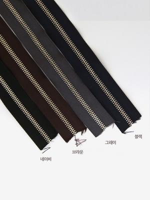 3호가죽용지퍼] 일본산YKK지퍼-니켈 4색 (145440)