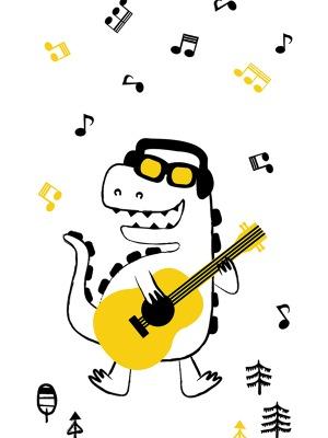 자체제작/KC인증/빅사이즈/인견컷트지]Dino Band공룡(158142)