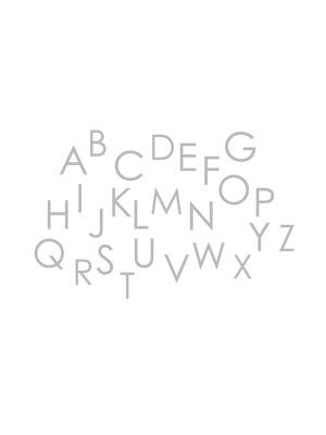 자체제작 대폭/무형광이중거즈]알파벳송-화이트 (148057)