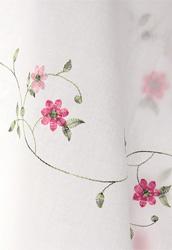 워싱광목/자수원단]핑크플라워(화이트)(118712)