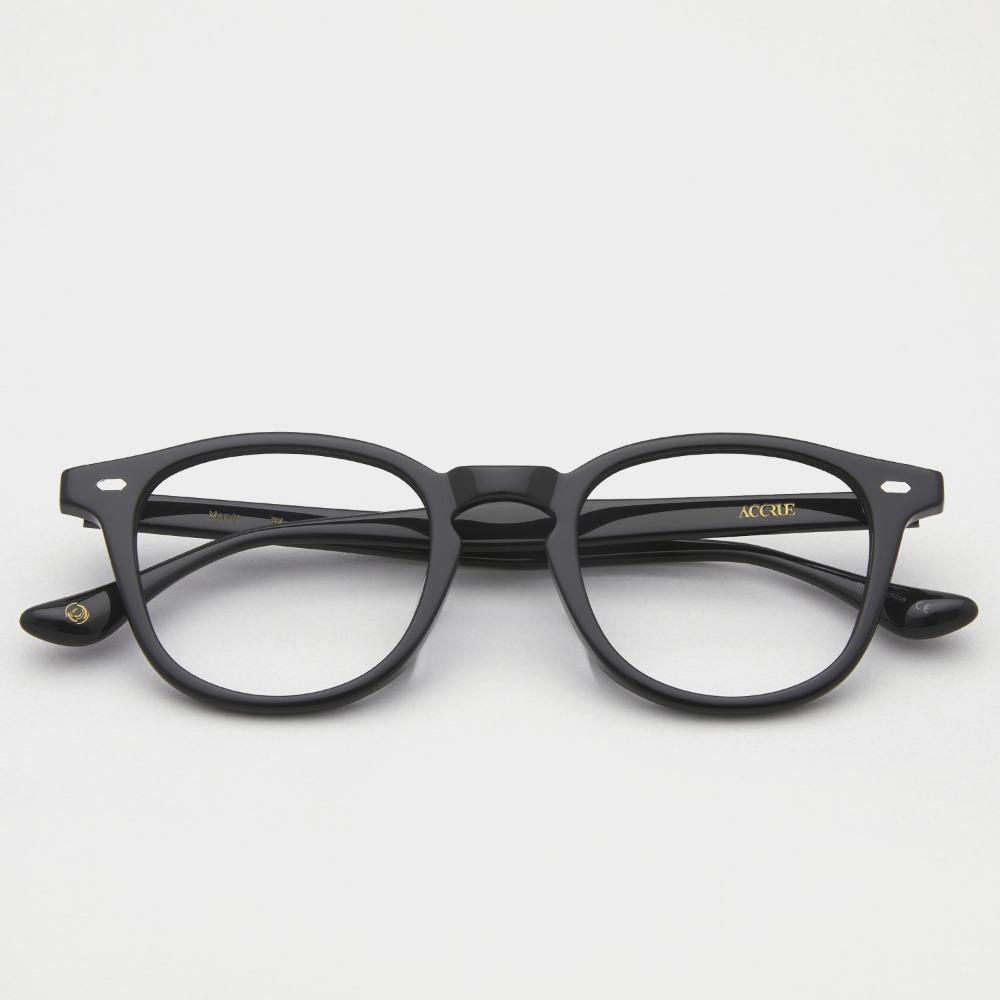 어크루 안경 마빈 BK 남자 블랙 사각 뿔테 성시경안경