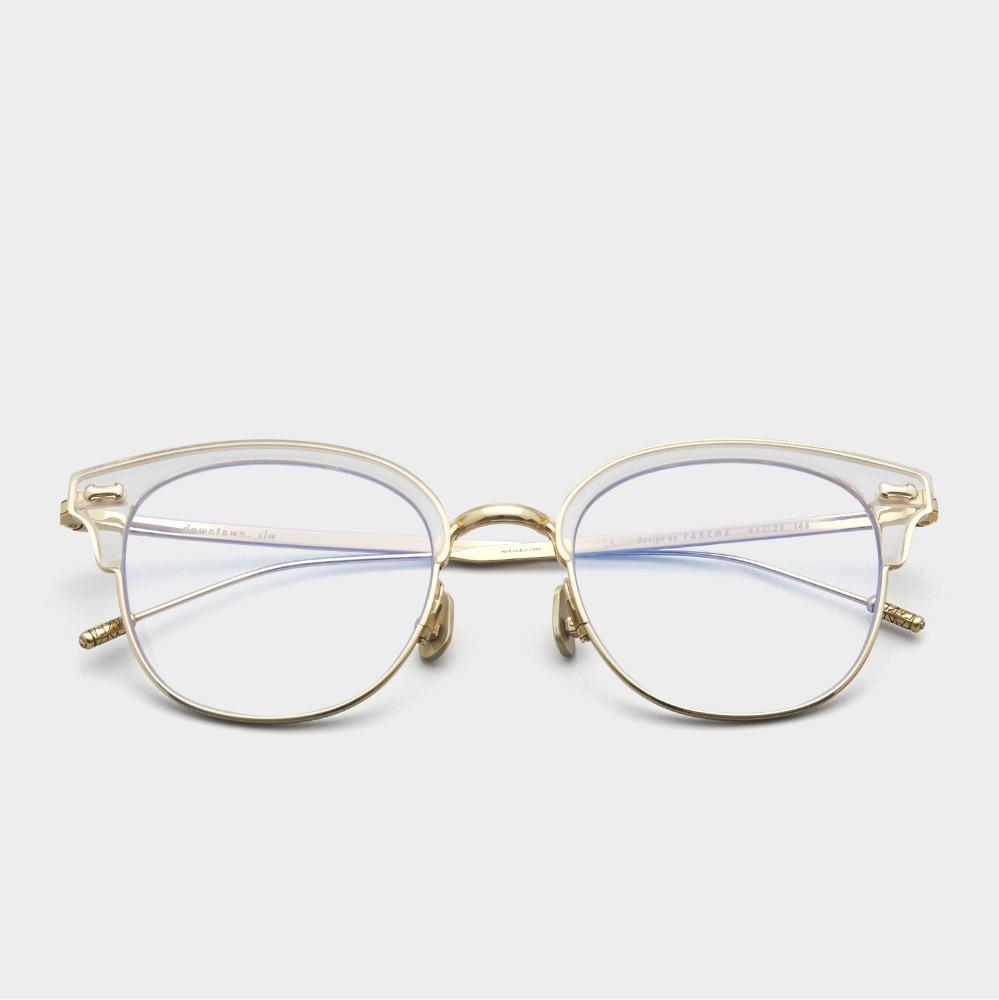페이크미 안경 다운타운 CLW 사각 블루라이트차단안경 투명 하금테