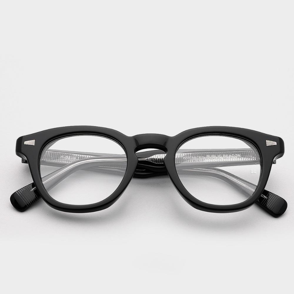 퍼블릭비컨 안경 뮤지엄1 C1 임주환 이승철 제시 빈티지 남자 블랙 뿔테 안경테