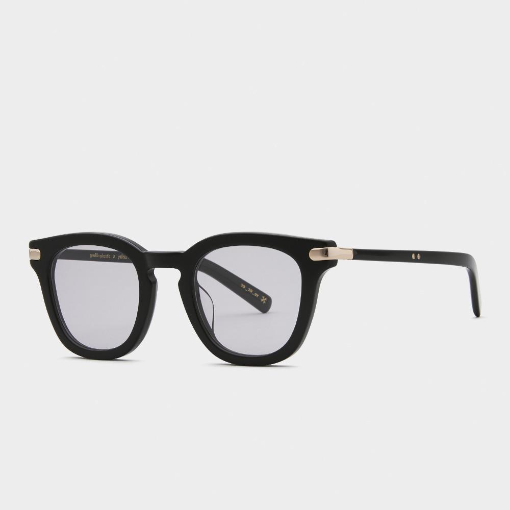그라픽플라스틱 선글라스 1920 01 그레이 틴트 렌즈 49사이즈 사각 블랙 안경테