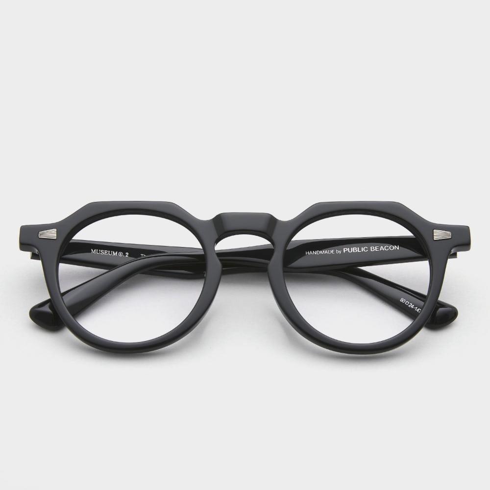 퍼블릭비컨 뮤지엄 안경 S2 C1 가벼운 남자 여자 블랙 뿔테