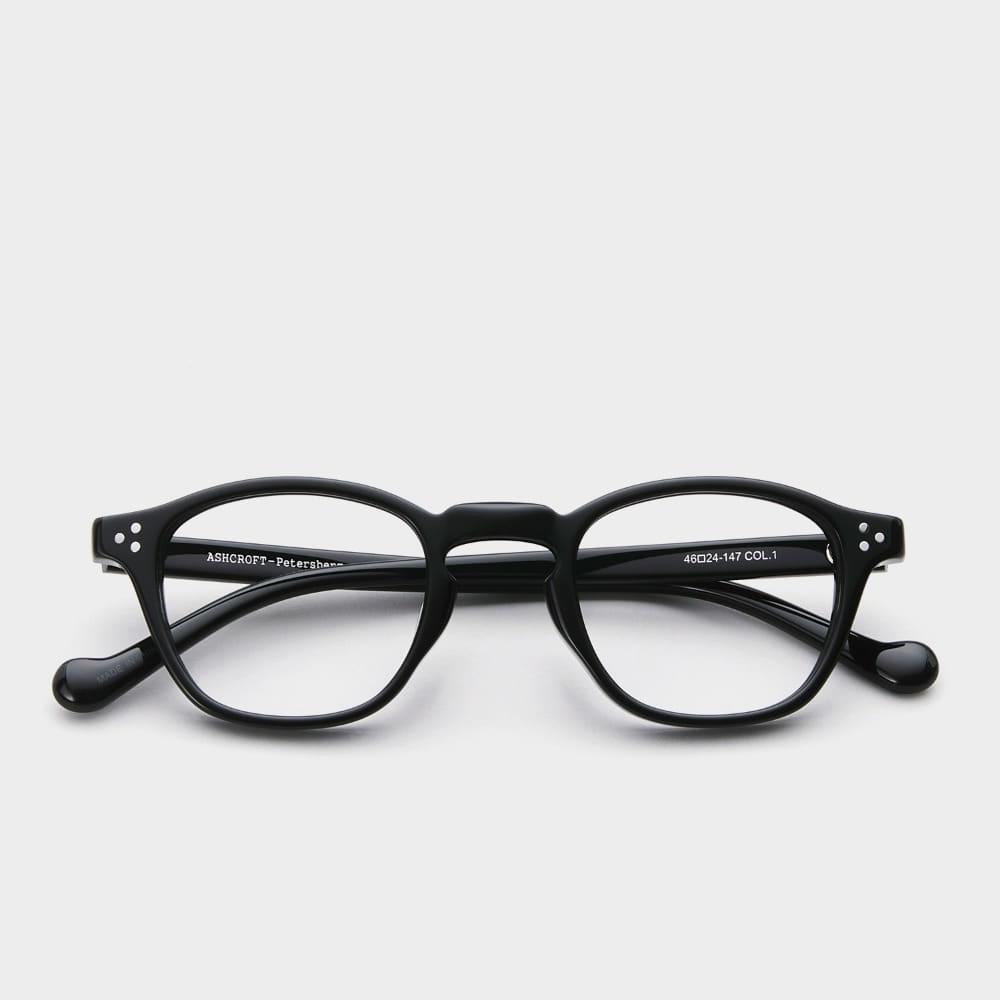 애쉬크로프트 안경 피터스버그 1 글로시 블랙 46 Size 남자 여자 사각 빈티지 뿔테 안경테