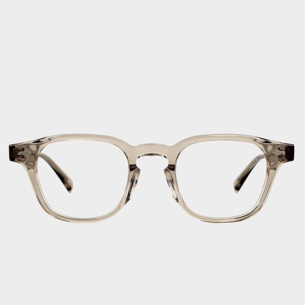 애쉬컴팩트 안경 타르 웜그레이 48사이즈 남자 여자 그레이 사각 투명 뿔테